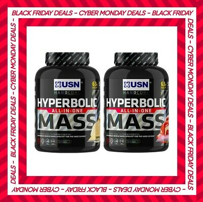 £25.95 • Buy USN Hyperbolic Mass 2kg All In One Weight Gainer Protein Powder Shake Free P&P