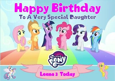 Personalised Birthday Card My Little Pony Any Name/age/relation  • 3.20£
