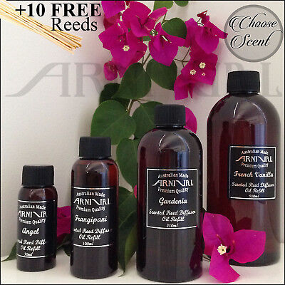 AU7.50 • Buy Highly Scented REED DIFFUSER OIL REFILL + 10 FREE STICKS 50ml 100ml 250ml 500ml