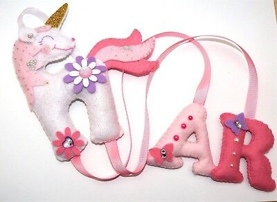 AU23.12 • Buy Unicorn Hair Bow Clip Headband Holder Pink Glitter