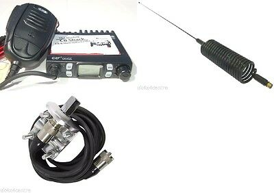 CRT ONE CB Radio Kit AM FM UK EU 80 Channel  Mirror Mount And Springer • 79.99£
