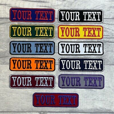 £3.15 • Buy Iron On Twill Personalised Patch Name Biker Scooter Triker Embroidered Tag