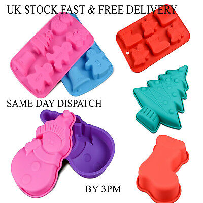 Christmas Chocolate Cake Ice Mould Tray Bakeware Mold Candy Silicone Vincenza • 3.99£