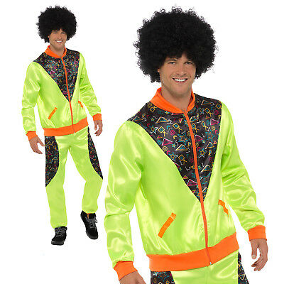 80s Shell Suit Costume Scouser Tracksuit Adult Mens Retro Fancy Dress Outfit • 18.89£