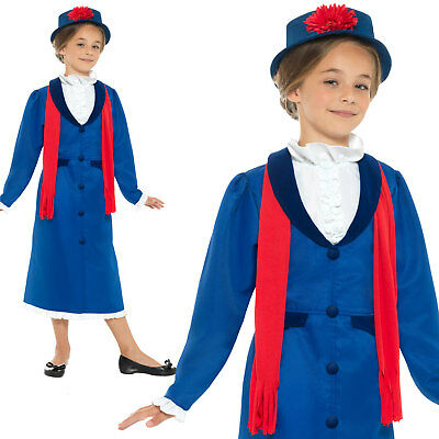 £14.09 • Buy Victorian Nanny Costume Girls Childrens World Book Day Week Fancy Dress Outfit