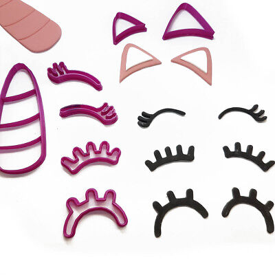 AU12.90 • Buy Unicorn Eyelashes Set Cookie Fondant Cutter 5cm 7cm 10cm Set Birthday Cake