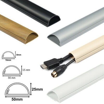 £6.89 • Buy 1 Metre D-Line TV Cable Cover Wire Hiding Trunking Dline All Sizes Colours