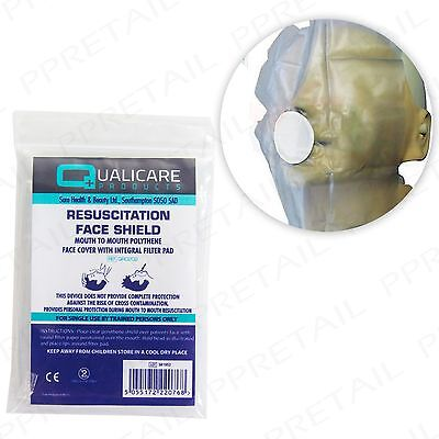 £3.35 • Buy 3 X CPR RESUSCITATION FACE MASK SHIELD Mouth To Mouth Emergency First Aid Refill