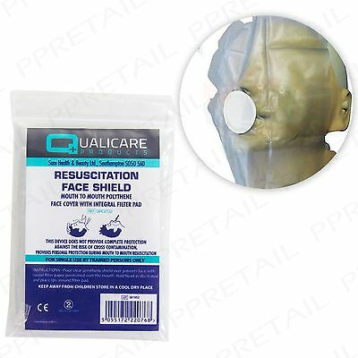 3 X CPR RESUSCITATION FACE MASK SHIELD Mouth To Mouth Emergency First Aid Refill • 3.35£