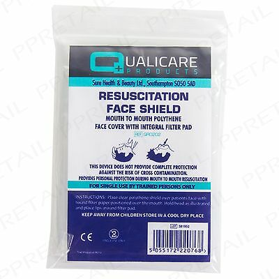 £4.09 • Buy 5x CPR RESUSCITATION FACE MASK SHIELD Mouth-Mouth Emergency First Aid Refill UK