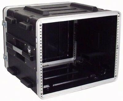 8U ABS 19 Inch Rack Flight DJ PA Equipment Transport Case Flightcase • 89£