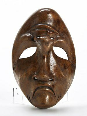 £150 • Buy Vintage Carved Wooden Comedy/tragedy Mask 20th C.
