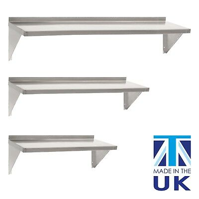 Displaypro Stainless Steel Shelves, Commercial Kitchen Clean Room Wall Shelf • 49.95£