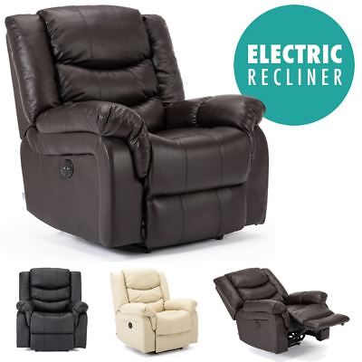 £364.99 • Buy Seattle Electric Leather Auto Recliner Armchair Sofa Home Lounge Chair