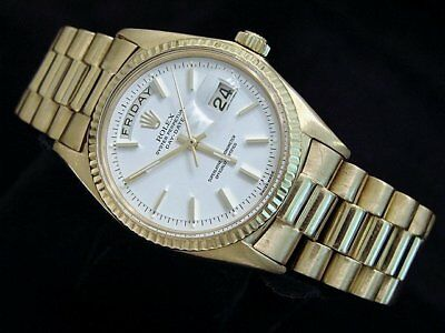 $ CDN17623.87 • Buy Mens Rolex Day-Date President Solid 18K Yellow Gold Watch White Vintage 1803