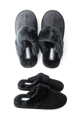 Ladies Womens Genuine Faux Fur Sheepskin Slippers Mules Non Slip Hard Sole Size • 9.99£