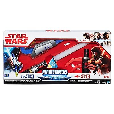 AU15 • Buy NEW HASBRO STAR WARS JEDI VS SITH PATH OF THE FORCE LIGHTSABER 2 In 1 C1412