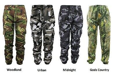 £11.90 • Buy Mens Army Military Trousers Hunting Shoot Camouflage Camo Joggers Jogging Bottom