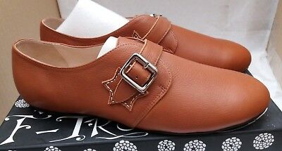 £29.95 • Buy Women's F-Troupe Tan Leather Flat Buckle Shoes