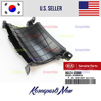$31.71 • Buy Front Bumper-Duct Air Right Passeng Side (GENUINE) 86574G5000 KIA NIRO 2017-2018