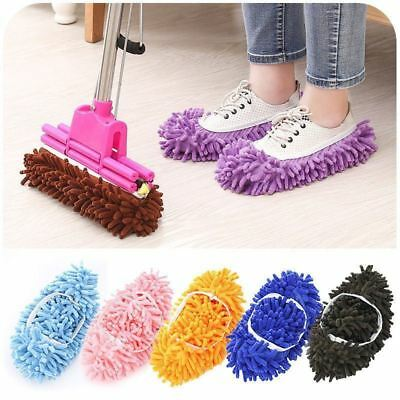 Microfibre Duster Shoe Sock Slippers Mop Dust Remover Cleaning Floor Polishers • 3.79£