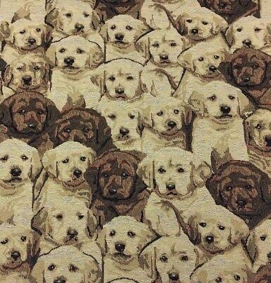 £13.98 • Buy FAMOUS LABRADOR PUPPY Tapestry Upholstery Fabric -100% Cotton