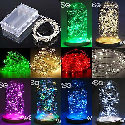 LED String Fairy Lights Wedding Craft Party Garden Coloured Xmas Decoration Fun  • 4.99£