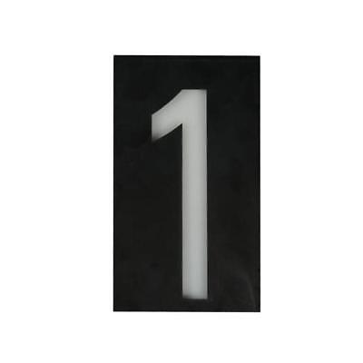 Solar Led Illuminated House Door Number Light Wall Plaque Modern Number 1 • 13.23£