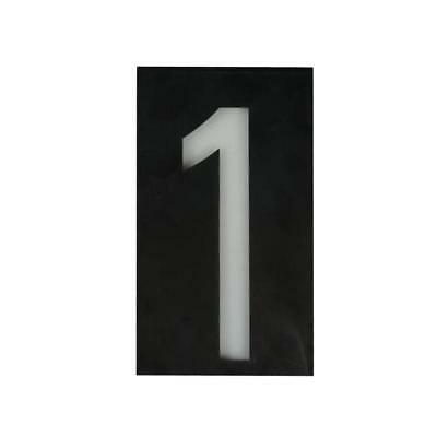 £11.58 • Buy Solar Led Illuminated House Door Number Light Wall Plaque Modern Number 1
