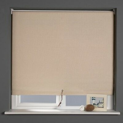 Sunlover LINEN Straight Edge Roller Blind With Leather Lace Pull. 90cm Width • 9.95£