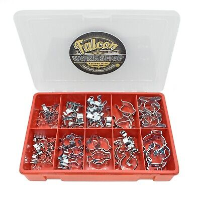 £13.99 • Buy 85 Piece Tool Spring Terry Clips Heavy Duty Open/closed Assorted Wall Mount Kit