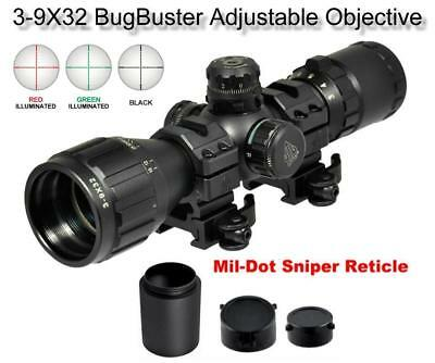 $84.95 • Buy Leapers UTG 3-9x32 CQB Bug Buster Rifle Scope Rings & Sunshade Quick Detach Mt