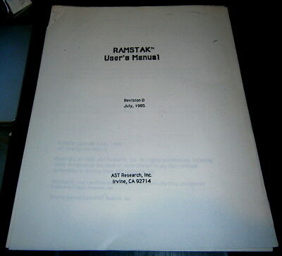£10.85 • Buy Apple Lisa RAMSTACK 2 MB User Manual - 1985 - 8 Pages