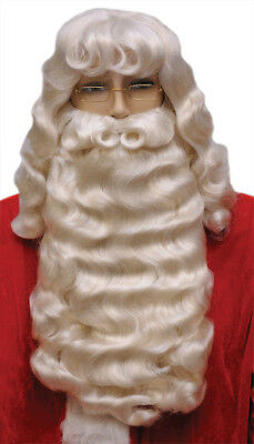 $162.73 • Buy Santa Claus Set Supreme White Wig & Wide Beard With Mustache Christmas 004L