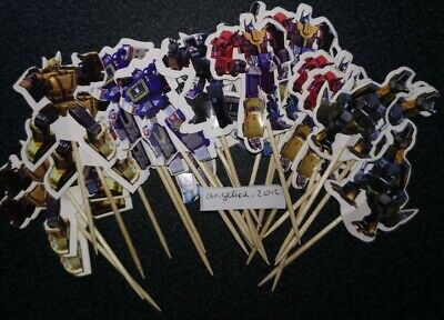 12 X Transformers Cake Picks / Cupcake Toppers Birthday Party Decoration  • 2.99£