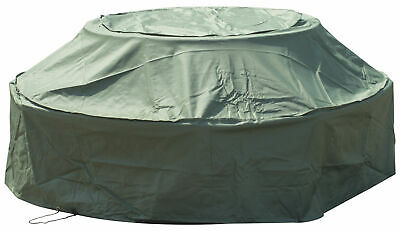 Woodside Green Waterproof Outdoor 8 Seater Round Picnic Table Cover • 24.99£