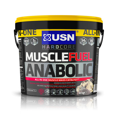 £59.99 • Buy USN Muscle Fuel Anabolic All-In-One Muscle Mass Gainer Protein Shake Cookies 4kg