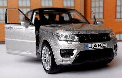 PERSONALISED PLATES RANGE ROVER SPORT Toy Car MODEL Boy Dad BIRTHDAY Boxed New! • 9.95£