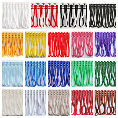 £1.99 • Buy Loop Fringe Dress Trim 30mm Chainette Sewing Crafts Lampshades Edging Curtains