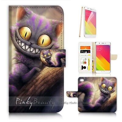 AU12.99 • Buy ( For Oppo A57 ) Wallet Case Cover P21073 Cheshire Cat