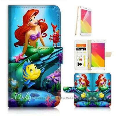 AU12.99 • Buy ( For Oppo A57 ) Wallet Case Cover P21075 Little Mermaid