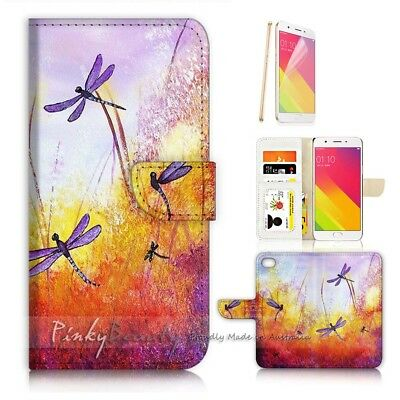 AU12.99 • Buy ( For Oppo A57 ) Wallet Case Cover P21092 Dragonfly
