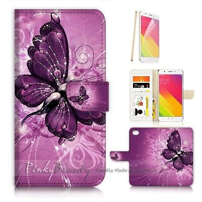 AU12.99 • Buy ( For Oppo A57 ) Wallet Case Cover P21098 Butterfly