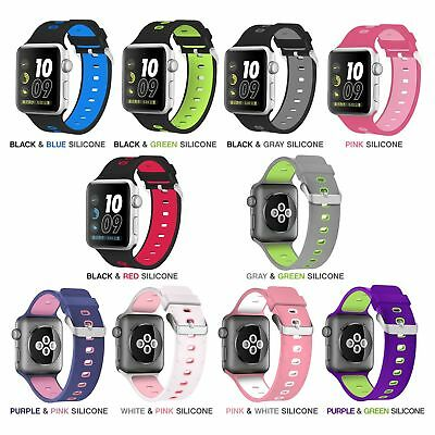 AU14.95 • Buy Silicone Replacement Band Apple Watch 38mm/42mm - IWatch 1, 2, 3 Nike Edition