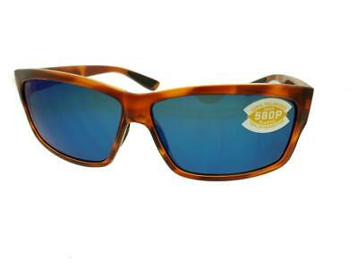 6d8a3d9ea1 Costa Del Mar Cut UT 51 OBMP Honey Tortoise Blue 580P Len s Men s Sunglasses  NIB •
