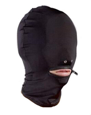 £7.99 • Buy Spandex Hood Zip Mouth/No Eyes Nose Holes Unisex Stretchy