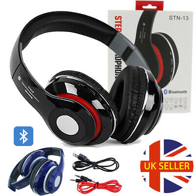 £14.95 • Buy Bluetooth Wireless/Wired Headphones Headset Over Ear FM Radio For IPhone Samsung