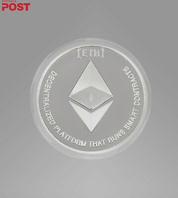AU4.50 • Buy Silver Plated Ethereum Coin. Collectible Brand New. Bitcoin.