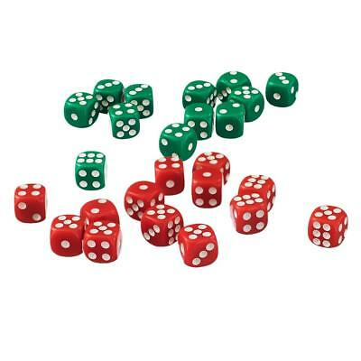 AU14.32 • Buy 100 D6 12mm Dice Acrylic Six Sided Die For Board Game Accessories Red&Green