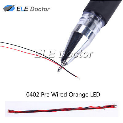 $5.18 • Buy 10pcs 0402 1005 Orange Light SMD Pre-Wired LED Diodes Soldered 20cm Length